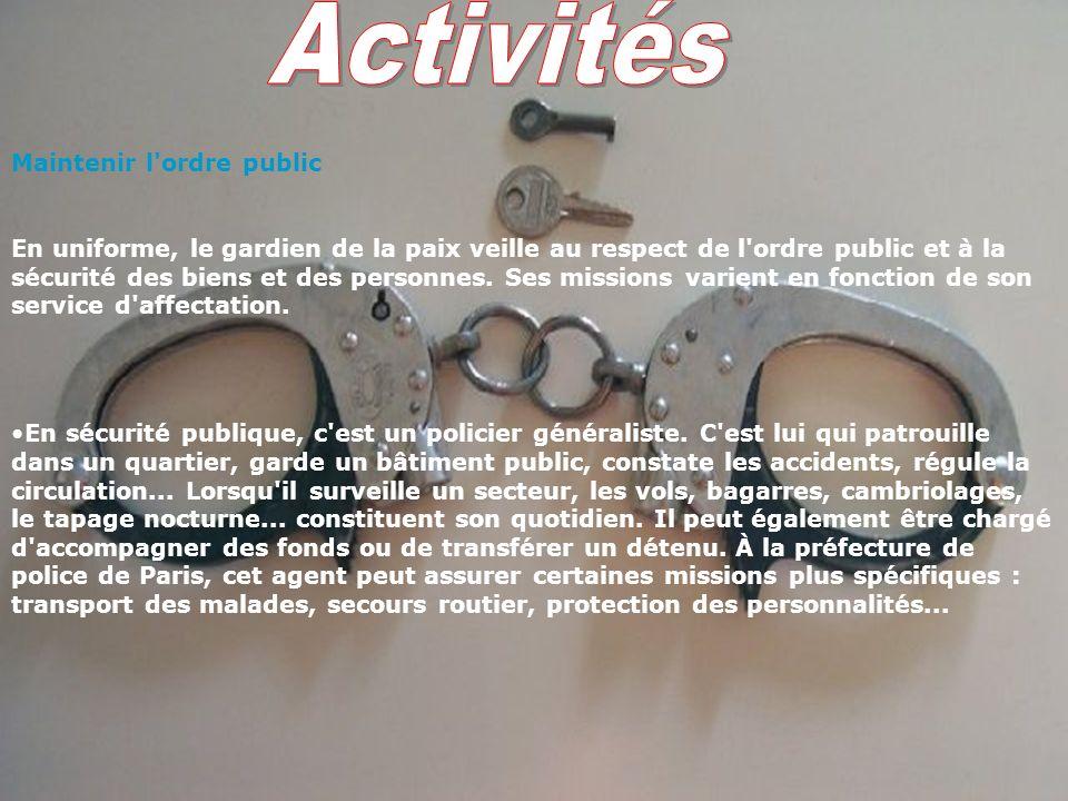 SOMMAIRE 2-Activités 4- conditions de travail 5-Les qualités requises 6- La formation 8- Vie familiale et personnelle