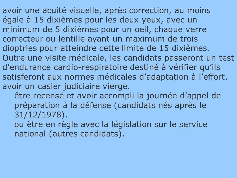 Concours externe Etre de nationalité française et âgé(e) de 17 ans au moins et 28 ans au plus, sauf dérogations, au 1er janvier de lannée du concours (cf.