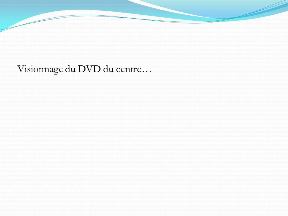 Visionnage du DVD du centre…