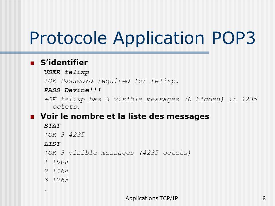 Applications TCP/IP19 Exercices Pourquoi des timers doivent être utilisés .
