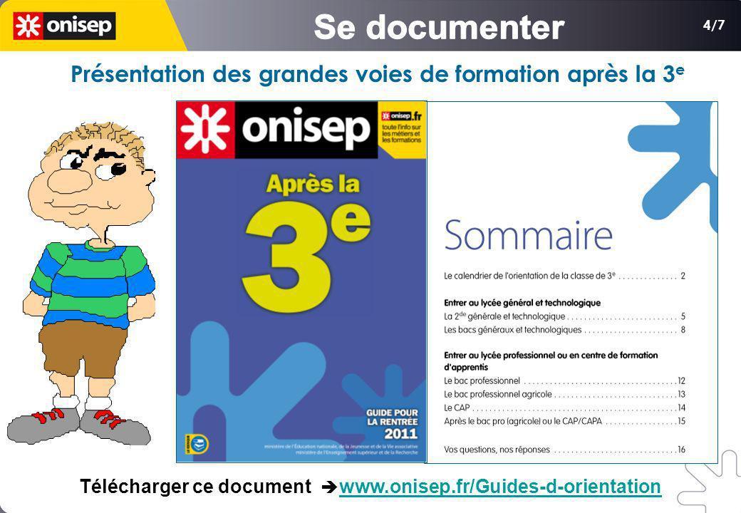 4/7 Présentation des grandes voies de formation après la 3 e Télécharger ce document www.onisep.fr/Guides-d-orientationwww.onisep.fr/Guides-d-orientat