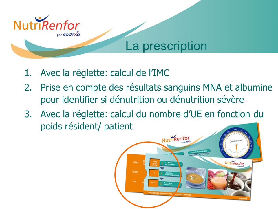 11e JIQHS16 1. 1.Avec la réglette: calcul de lIMC 2. 2.Prise en compte des résultats sanguins MNA et albumine pour identifier si dénutrition ou dénutr