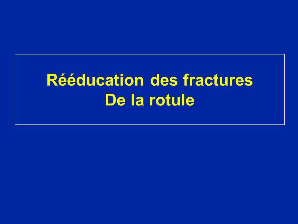 Rééducation des fractures De la rotule