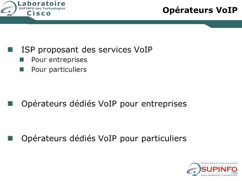 Opérateurs VoIP ISP proposant des services VoIP Pour entreprises Pour particuliers Opérateurs dédiés VoIP pour entreprises Opérateurs dédiés VoIP pour