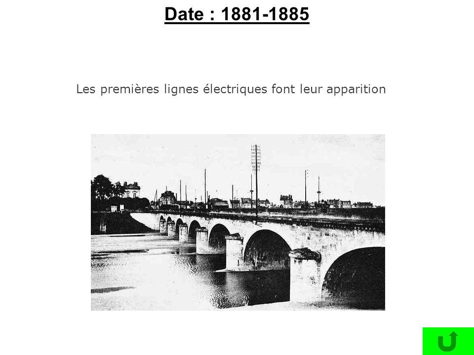 Les premières lignes électriques font leur apparition Date : 1881-1885