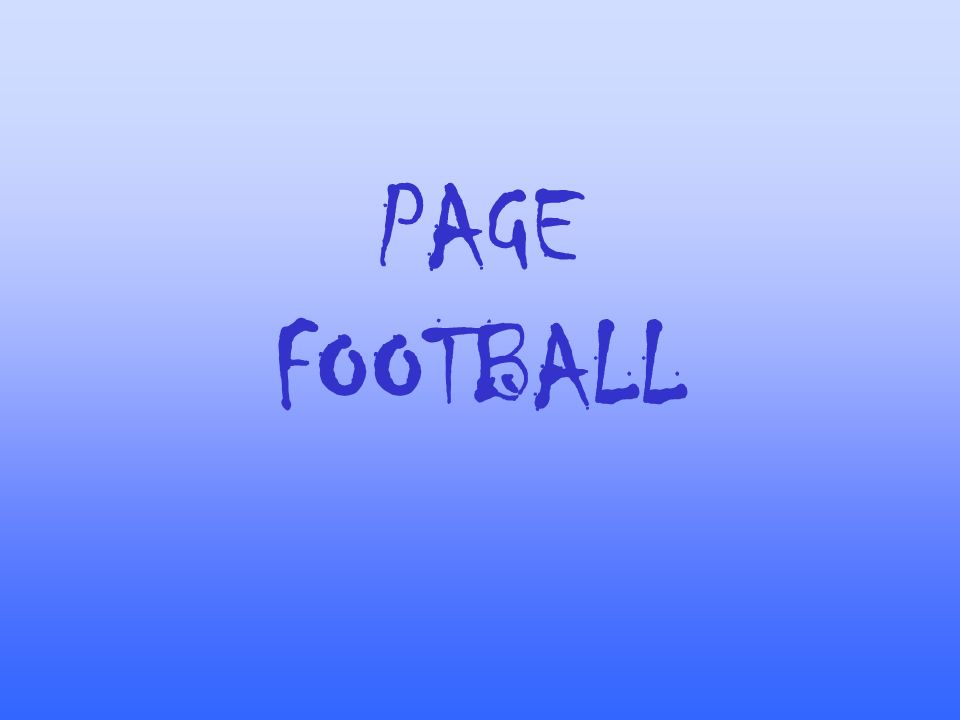 PAGE FOOTBALL