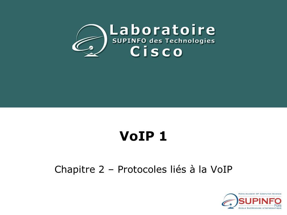 VoIP 1 Chapitre 2 – Protocoles liés à la VoIP
