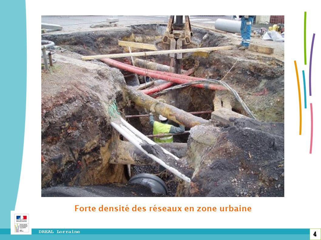 4 DREAL Lorraine 4 Forte densité des réseaux en zone urbaine