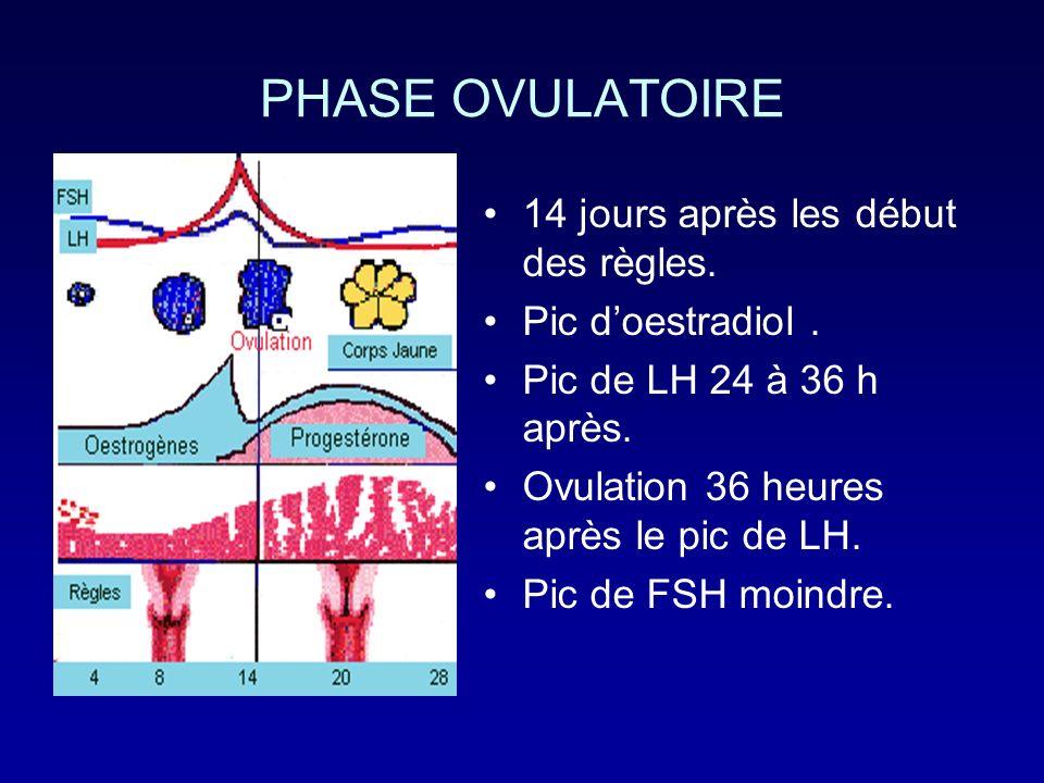 DIAGNOSTIC DE LOVULATION CliniqueClinique : -Glaire cervicale: abondante, filante, limpide.