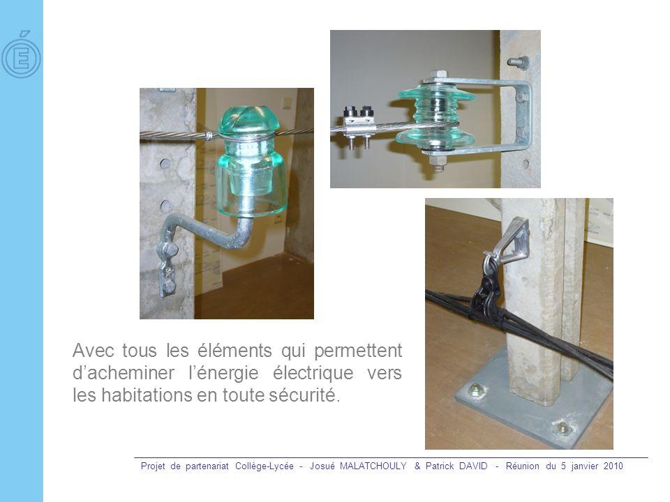 Projet de partenariat Collège-Lycée - Josué MALATCHOULY & Patrick DAVID - Réunion du 5 janvier 2010 Avec tous les éléments qui permettent dacheminer l
