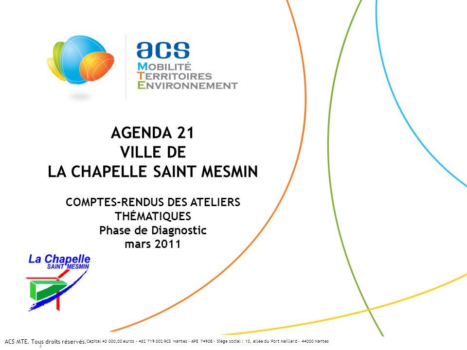 Capital 40 000,00 euros - 482 719 002 RCS Nantes - APE 7490B - Siège social : 10, allée du Port Maillard - 44000 Nantes ACS MTE. Tous droits réservés.