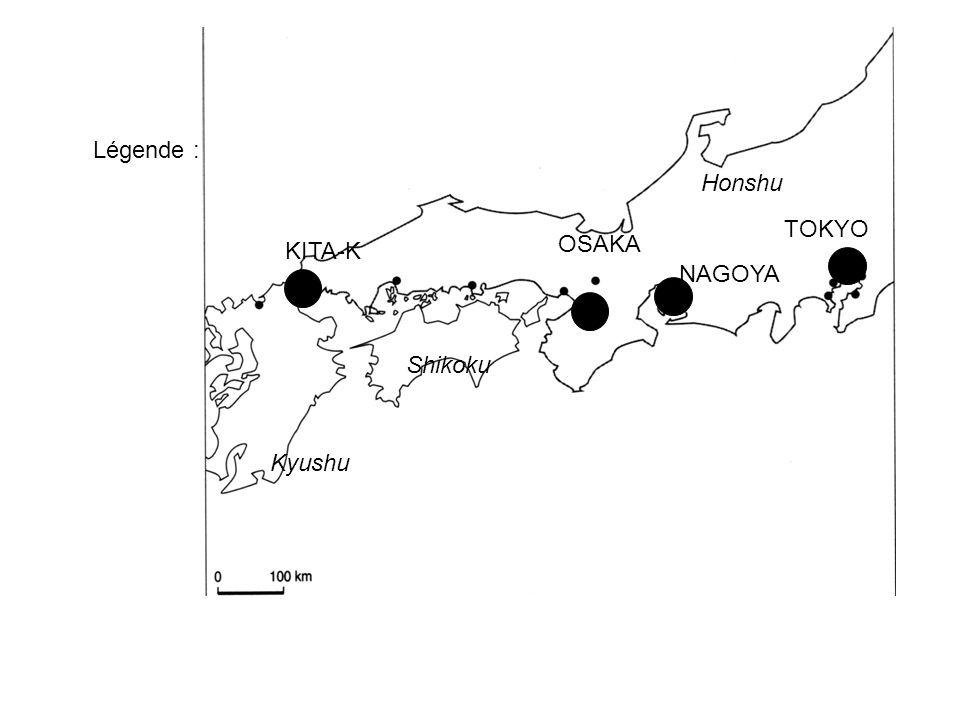 TOKYO NAGOYA OSAKA KITA-K Kyushu Shikoku Honshu