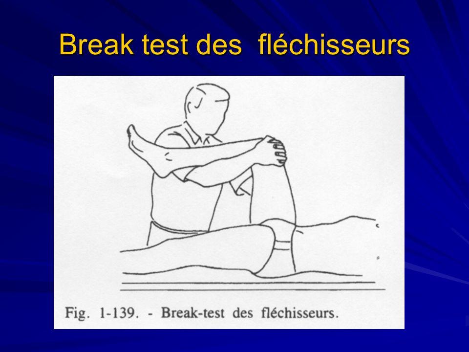 Break test des fléchisseurs