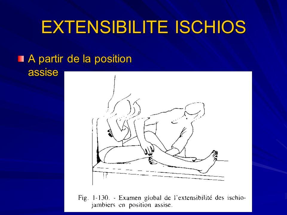 EXTENSIBILITE ISCHIOS A partir de la position assise