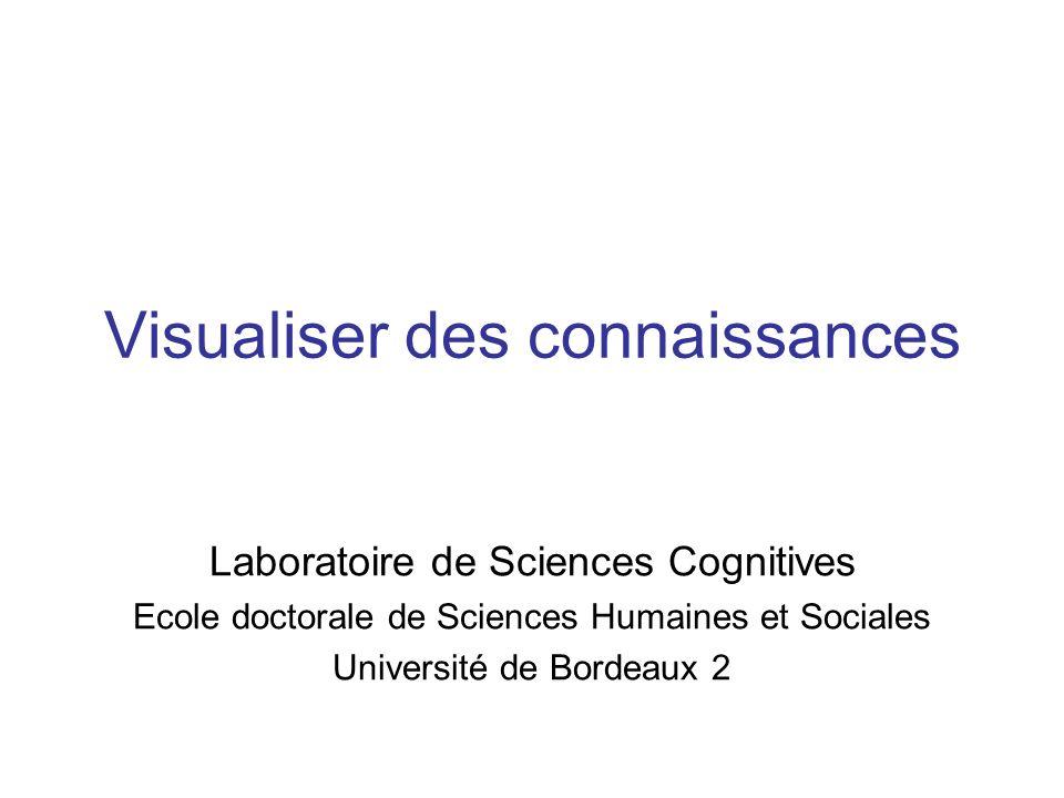 Visualiser des connaissances Laboratoire de Sciences Cognitives Ecole doctorale de Sciences Humaines et Sociales Université de Bordeaux 2