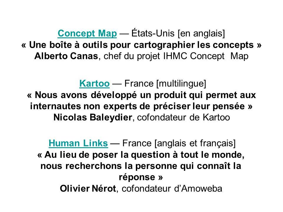 Human Links France [anglais et français]Human Links « Au lieu de poser la question à tout le monde, nous recherchons la personne qui connaît la répons