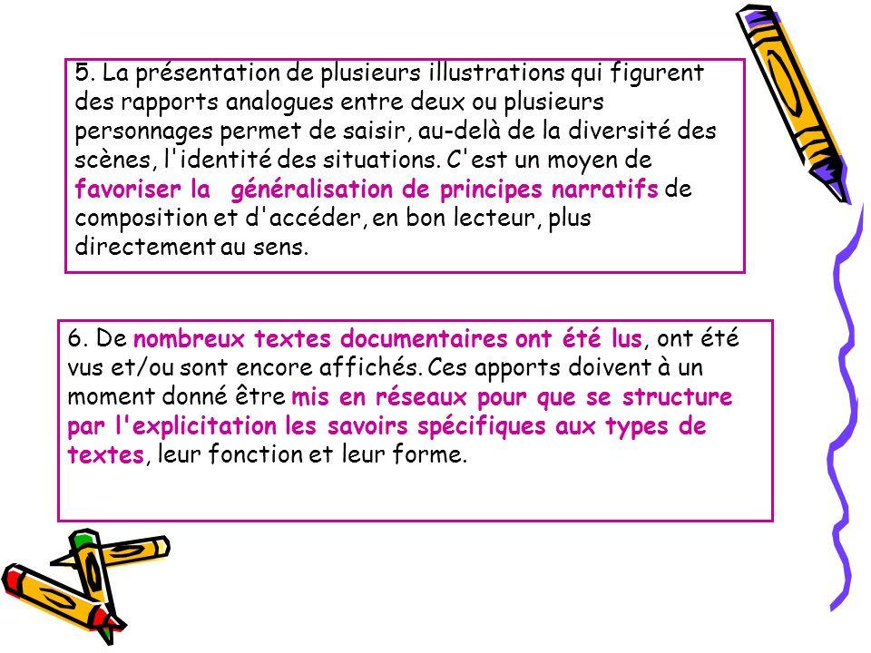 5. La présentation de plusieurs illustrations qui figurent des rapports analogues entre deux ou plusieurs personnages permet de saisir, au-delà de la