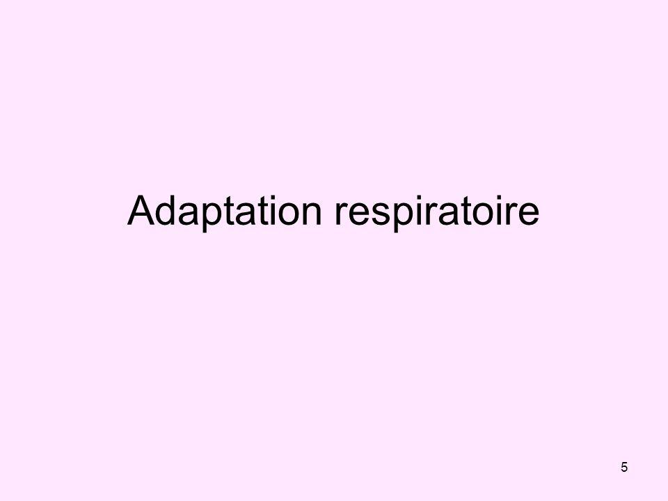 5 Adaptation respiratoire