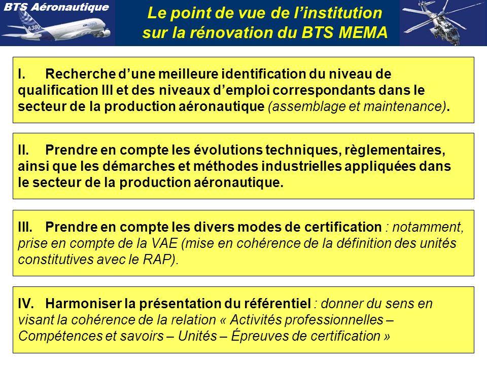 BTS Aéronautique Harmoniser la présentation du référentiel du BTS Le référentiel des activités professionnelles.