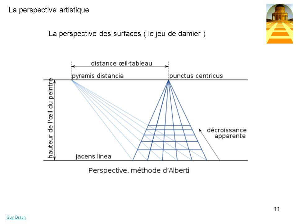La perspective artistique Guy Braun 11 La perspective des surfaces ( le jeu de damier )