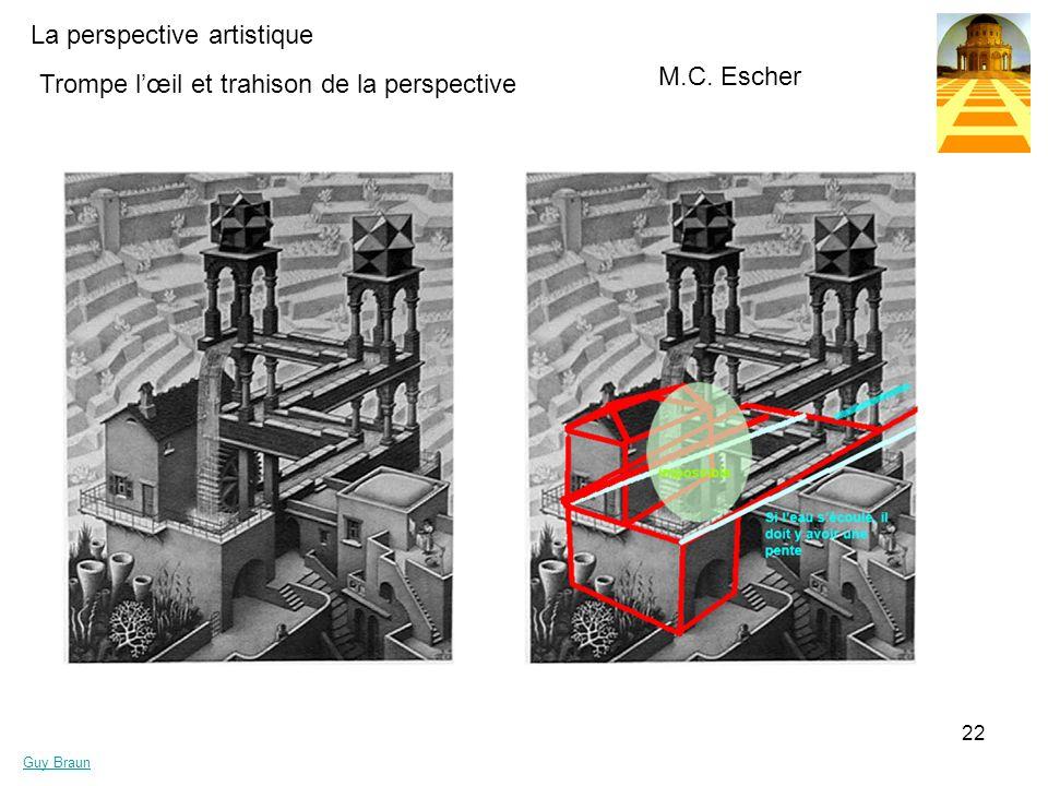 La perspective artistique Guy Braun 22 Trompe lœil et trahison de la perspective M.C. Escher