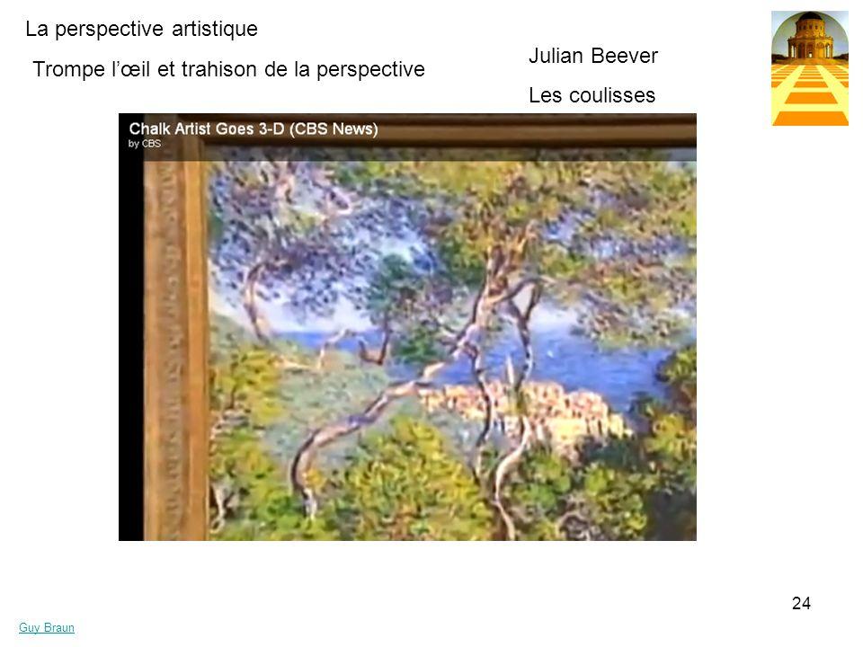 La perspective artistique Guy Braun 24 Trompe lœil et trahison de la perspective Julian Beever Les coulisses