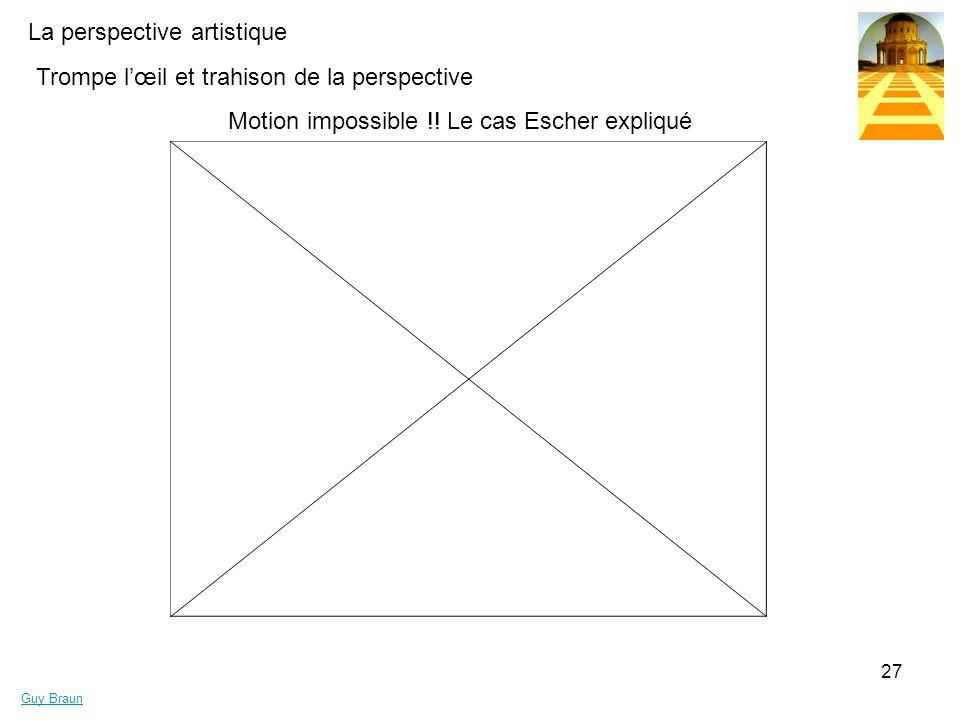 La perspective artistique Guy Braun 27 Trompe lœil et trahison de la perspective Motion impossible !! Le cas Escher expliqué