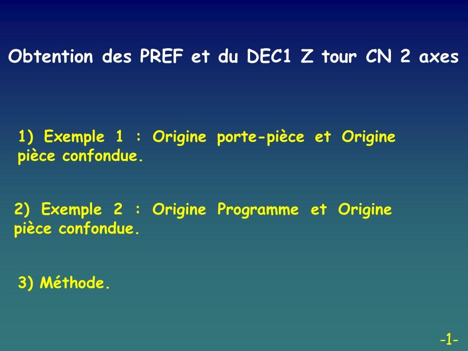 -2- 1) Exemple 1 : Origine porte-pièce et Origine pièce confondue.