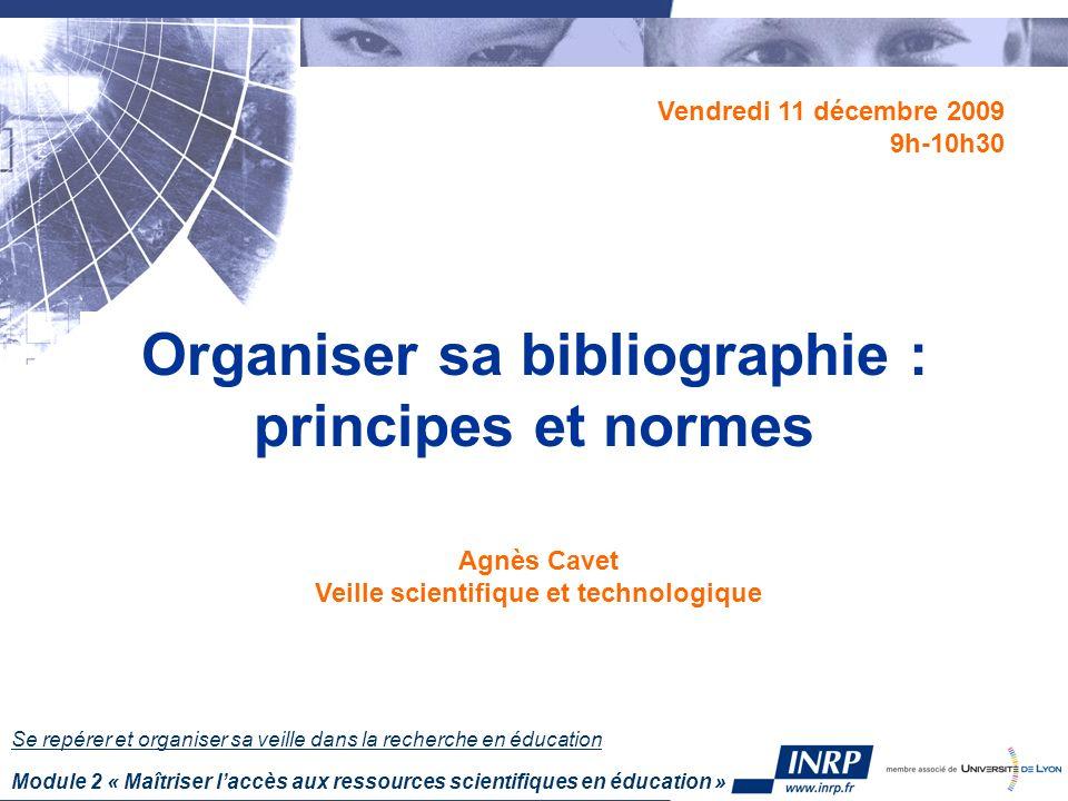 07/12/09 32 Contribution à une monographie Le référencement de la partie fait nécessairement apparaître une référence au document hôte.
