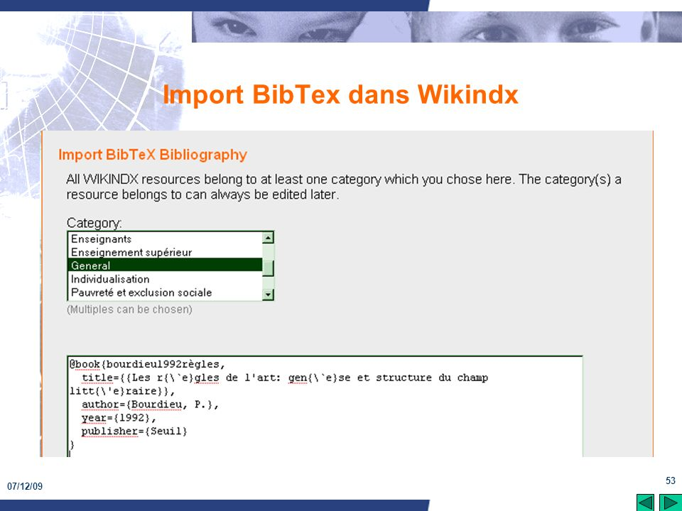 07/12/09 53 Import BibTex dans Wikindx