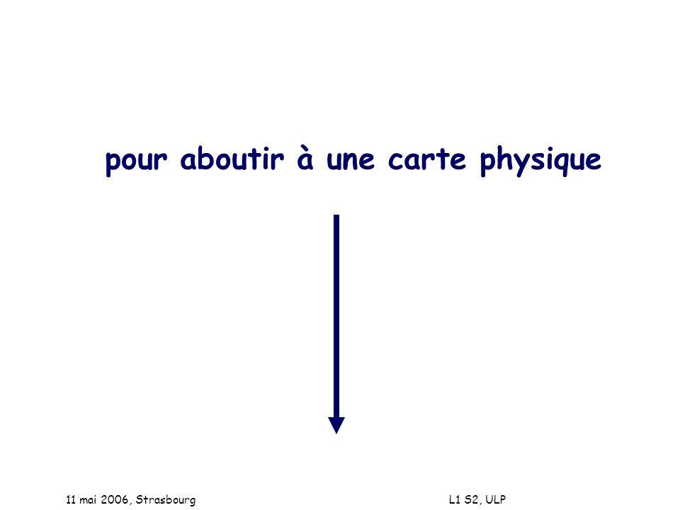 11 mai 2006, Strasbourg L1 S2, ULP pour aboutir à une carte physique