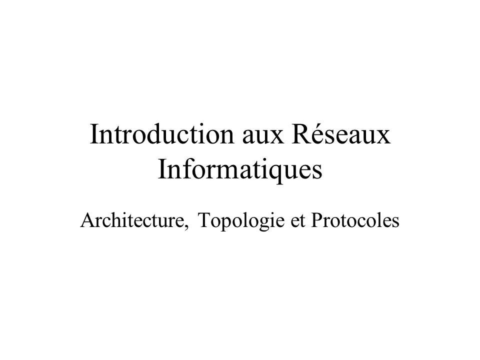 Introduction aux Réseaux Informatiques Architecture, Topologie et Protocoles