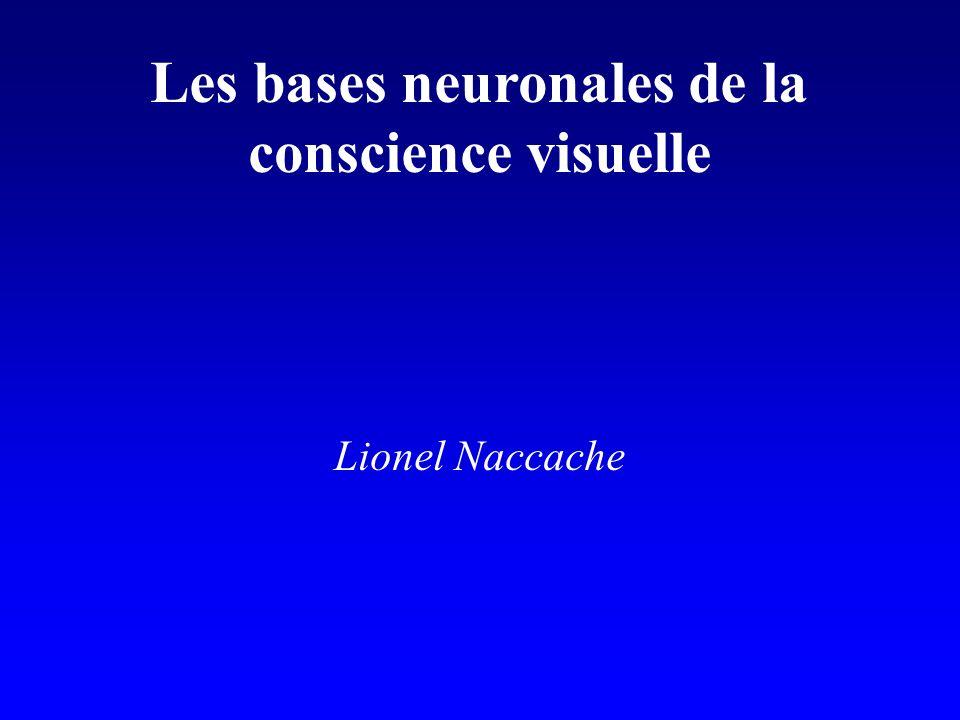 Les bases neuronales de la conscience visuelle Lionel Naccache