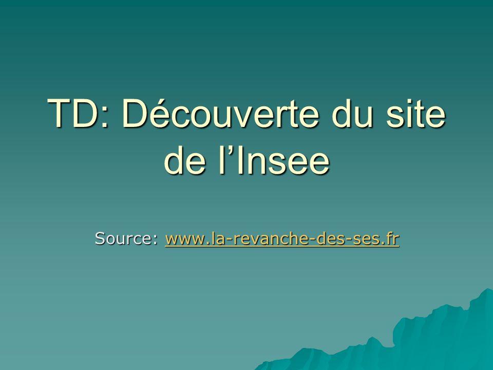 TD: Découverte du site de lInsee Source: www.la-revanche-des-ses.fr www.la-revanche-des-ses.fr