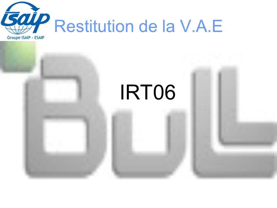 Restitution de la V.A.E IRT06