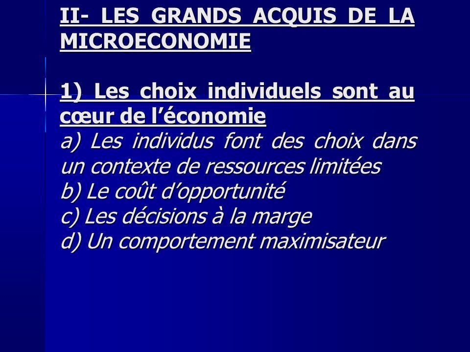 I- LE CHOIX DU CONSOMMATEUR La théorie de lutilité 2) La théorie de lutilité c)Utilité = Bonheur .