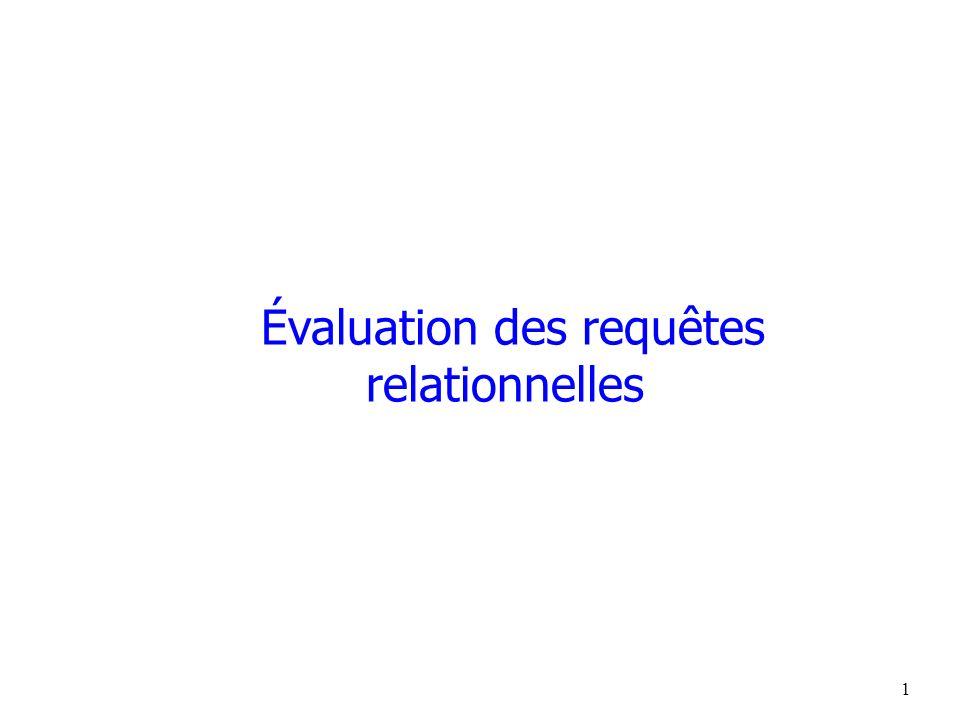 1 Évaluation des requêtes relationnelles