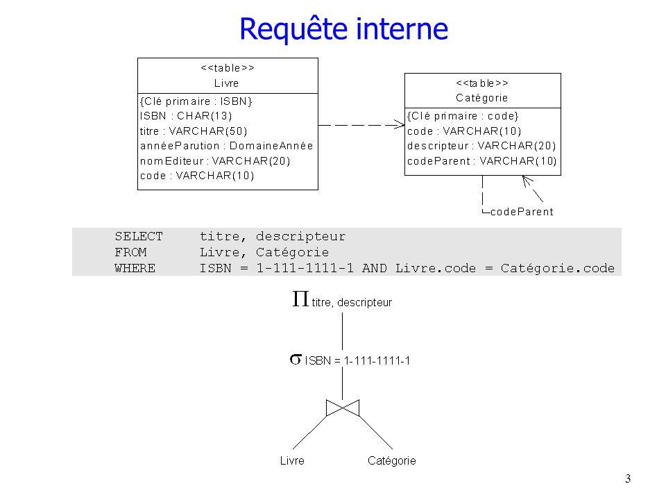 4 Optimisation statique ou dynamique Dynamique –à chaque exécution EXECUTE IMMEDIATE de SQL Statique –compilation PREPARE de SQL –plusieurs exécutions EXECUTE –réoptimisation automatique suite à modification de schéma interne?