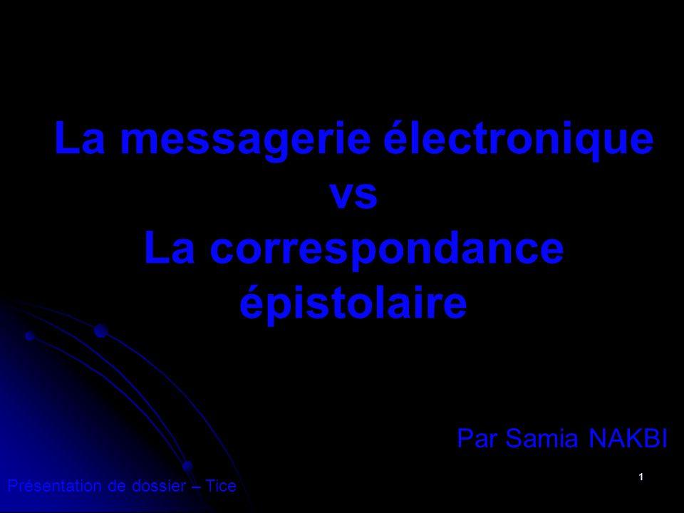 2 SOMMAIRE: I Le principe démission A.La messagerie électronique B.