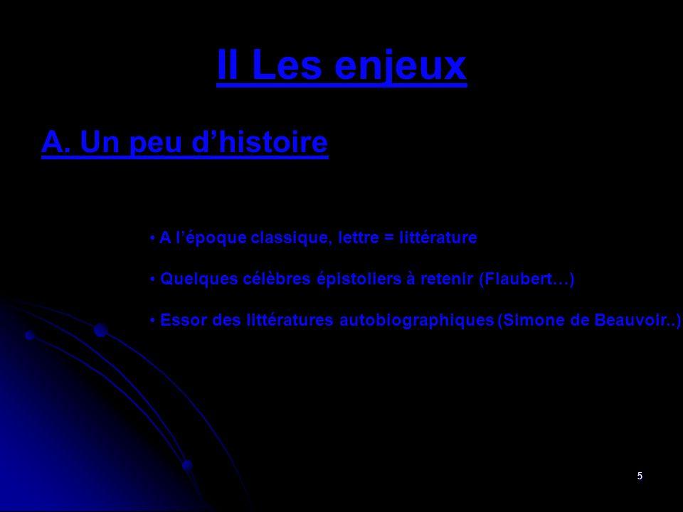 6 II Les enjeux B.Une nouvelle forme de littérature.
