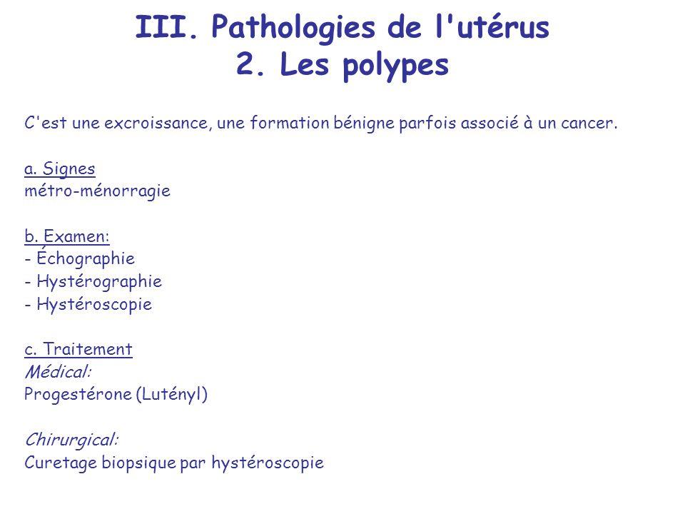 III.Pathologies de l utérus 2.