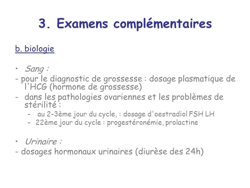 3.Examens complémentaires b.