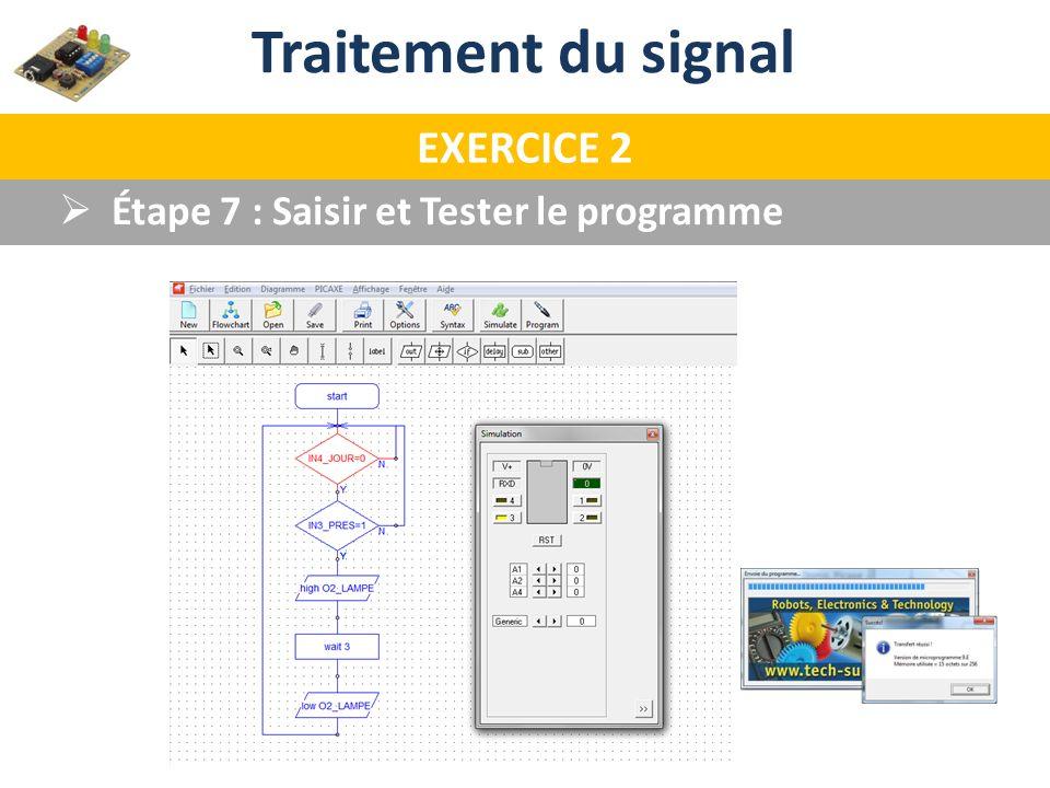 Traitement du signal EXERCICE 2 Étape 7 : Saisir et Tester le programme