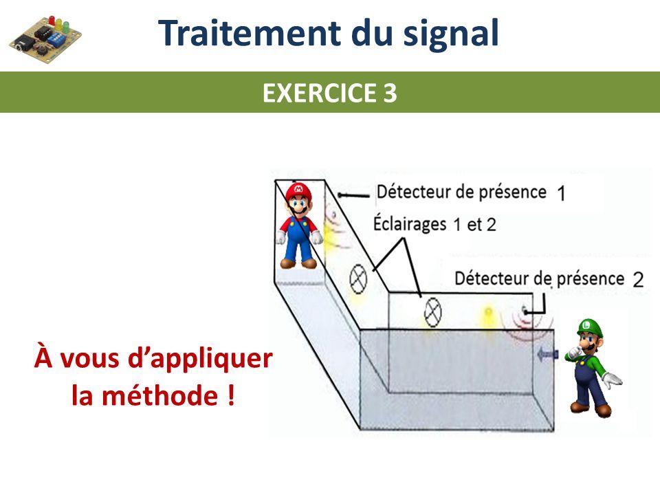 Traitement du signal EXERCICE 3 À vous dappliquer la méthode !