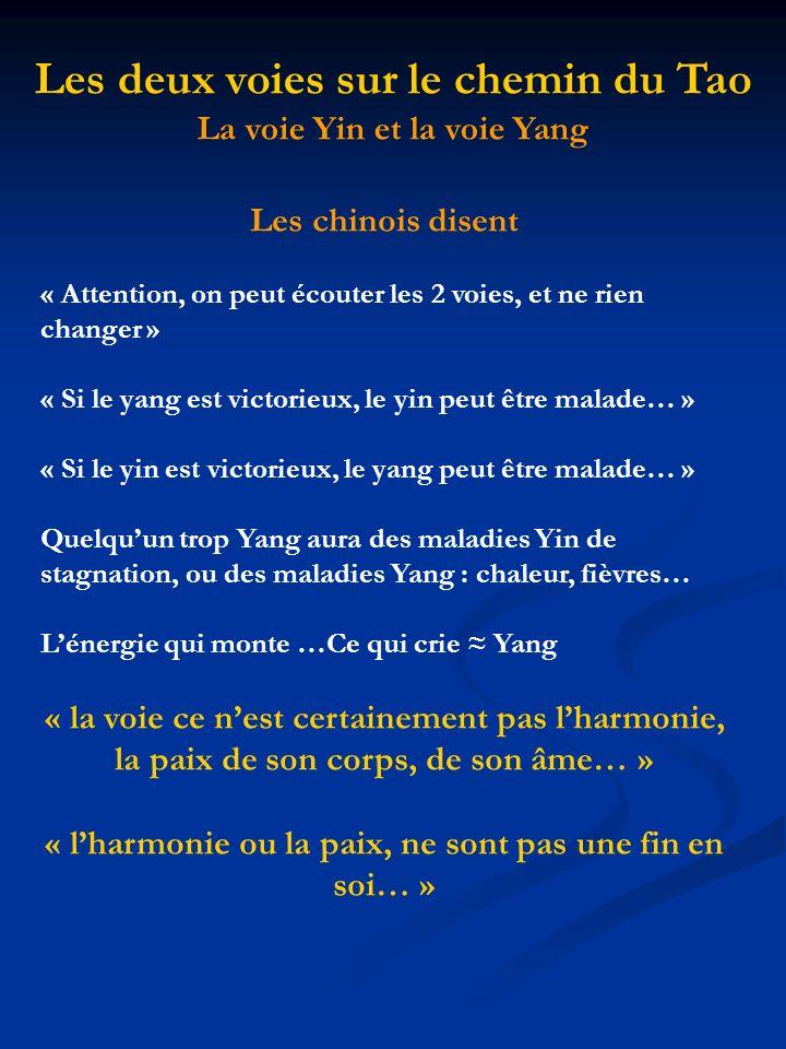 Les chinois disent « Attention, on peut écouter les 2 voies, et ne rien changer » « Si le yang est victorieux, le yin peut être malade… » « Si le yin