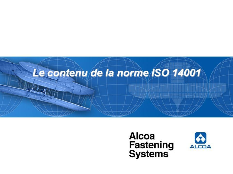 Le contenu de la norme ISO 14001