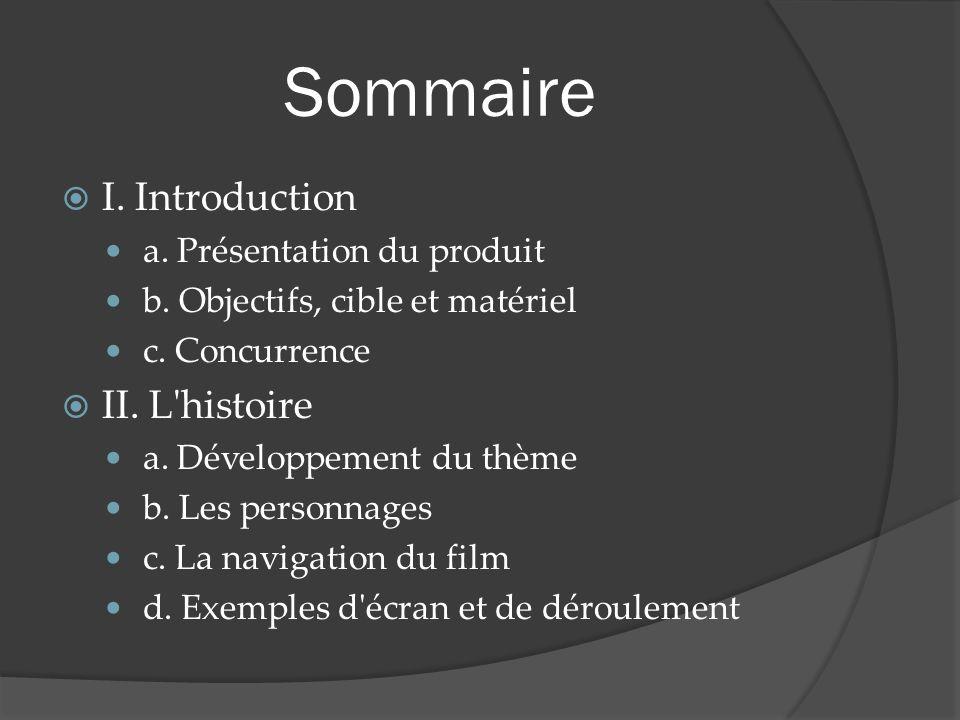 Sommaire I. Introduction a. Présentation du produit b.