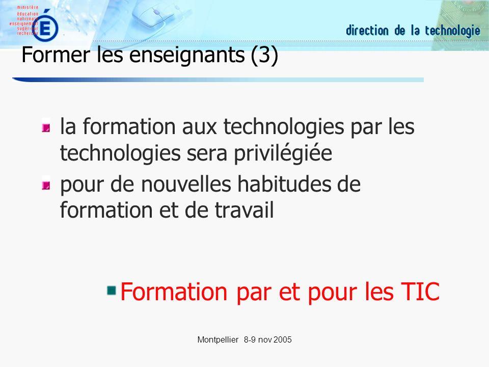 20 Montpellier 8-9 nov 2005 Former pour lentrée dans la profession Les C2i niveau 2 Enseignant Métiers du Droit Métiers de la Santé …