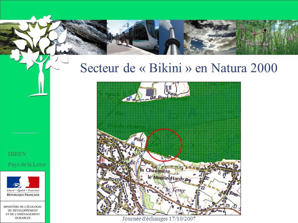 Journée d'échanges 17/10/2007 Secteur de « Bikini » en Natura 2000 DIREN Pays de la Loire