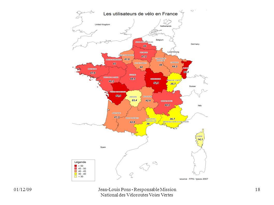 01/12/09Jean-Louis Pons - Responsable Mission National des Véloroutes Voies Vertes 18